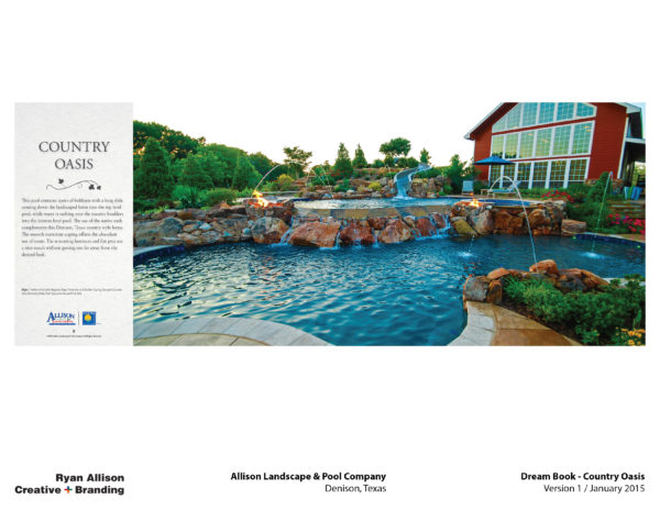 Allison Pools Dream Book Country Oasis - Project - Ryan Allison Creative + Branding