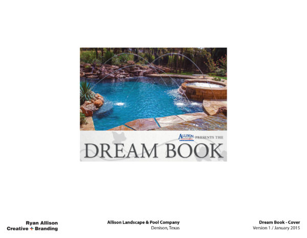 Allison Pools Dream Book Cover - Project - Ryan Allison Creative + Branding