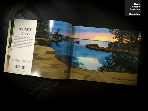 Allison Landscape & Pool Company - Dream Book Serenity Spread - Ryan Allison Creative + Branding