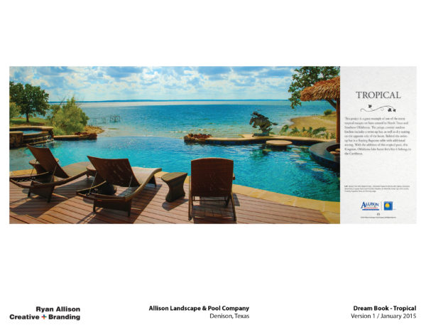 Allison Pools Dream Book Tropical - Project - Ryan Allison Creative + Branding