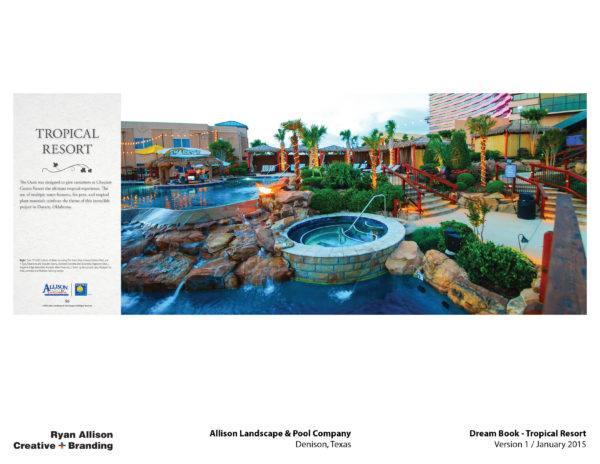 Allison Pools Dream Book Tropical Resort - Project - Ryan Allison Creative + Branding