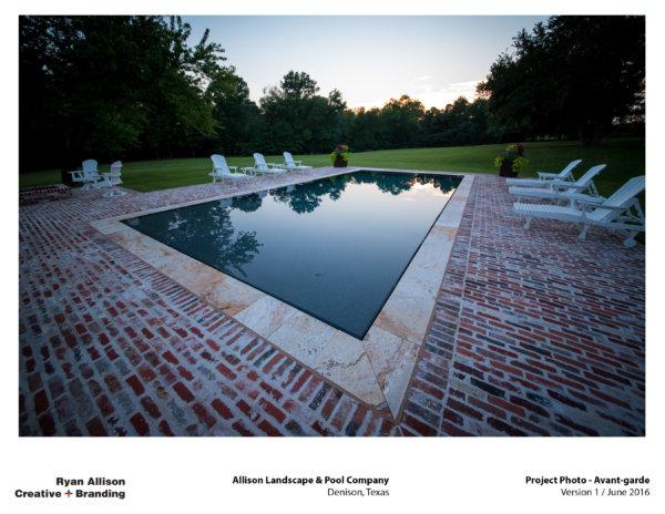 Allison Pools Project Photo Avant-garde - Project - Ryan Allison Creative + Branding