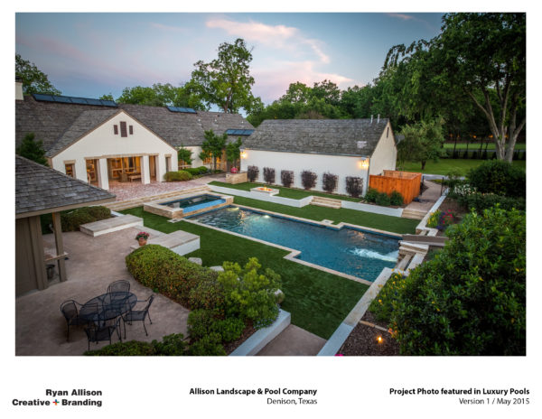 Allison Pools Project Photo featured in Luxury Pools - Project - Ryan Allison Creative + Branding