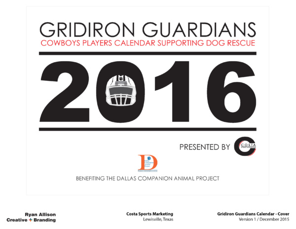 Costa Sports Marketing Gridiron Guardians Calendar Cover - Project - Ryan Allison Creative + Branding