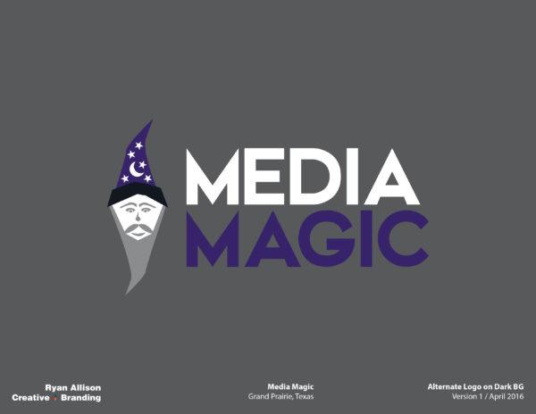 Media Magic Alternate Logo on Dark BG - Logo - Ryan Allison Creative + Branding