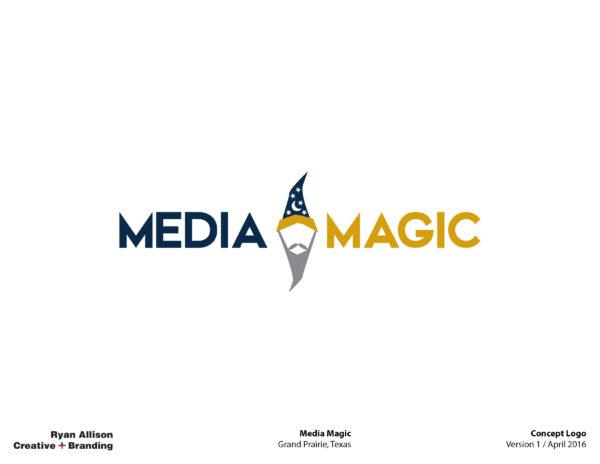 Media Magic Concept Logo V1 - Logo - Ryan Allison Creative + Branding
