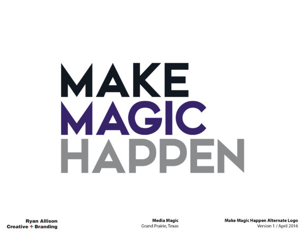 Media Magic Make Magic Happen Alternate Logo - Logo - Ryan Allison Creative + Branding