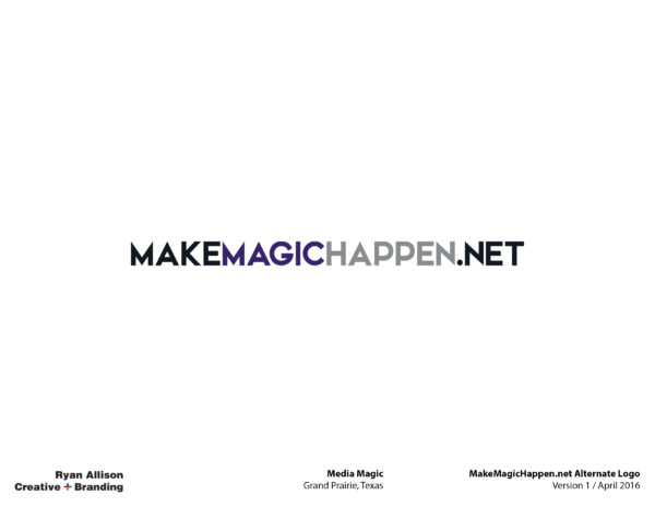 Media Magic MakeMagicHappen.net Alternate Logo - Logo - Ryan Allison Creative + Branding