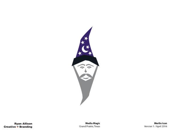 Media Magic Merlin Icon - Logo - Ryan Allison Creative + Branding