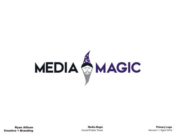 Media Magic Primary Logo - Logo - Ryan Allison Creative + Branding