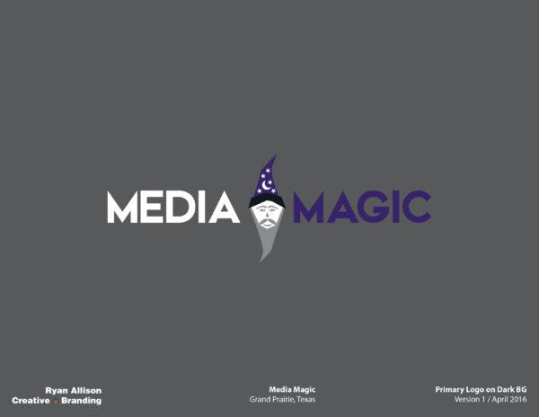 Media Magic Primary Logo on Dark BG - Logo - Ryan Allison Creative + Branding