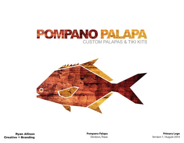 Pompano Palapa Primary Logo - Logo - Ryan Allison Creative + Branding