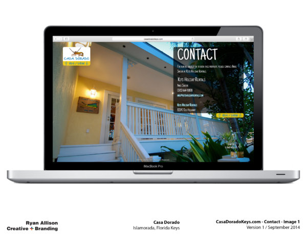 Casa Dorado Website Contact 1 - Project - Ryan Allison Creative + Branding