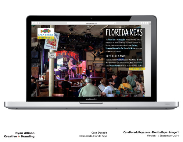 Casa Dorado Website Florida Keys 1 - Project - Ryan Allison Creative + Branding