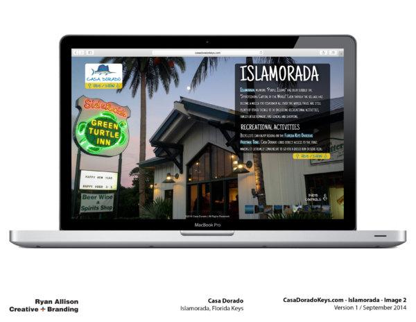 Casa Dorado Website Islamorada 2 - Project - Ryan Allison Creative + Branding