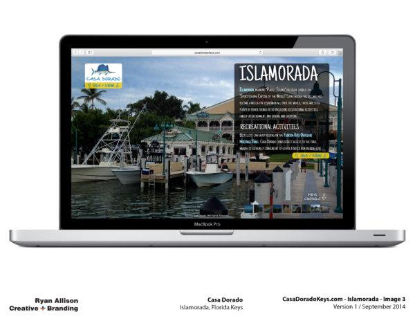 Casa Dorado Website Islamorada 3 - Project - Ryan Allison Creative + Branding