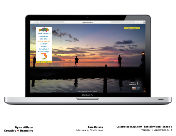 Casa Dorado Website Rental Pricing 1 - Project - Ryan Allison Creative + Branding