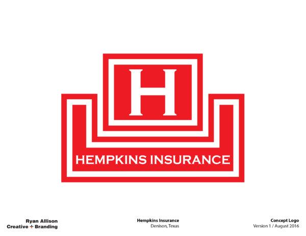 Hempkins Insurance Concept Logo - Logo - Ryan Allison Creative + Branding