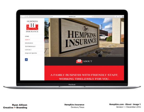 Hempkins Insurance Website About 1 - Project - Ryan Allison Creative + Branding