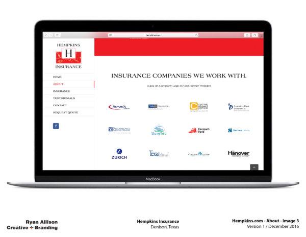 Hempkins Insurance Website About 3 - Project - Ryan Allison Creative + Branding