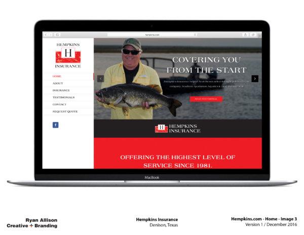 Hempkins Insurance Website Home 3 - Project - Ryan Allison Creative + Branding