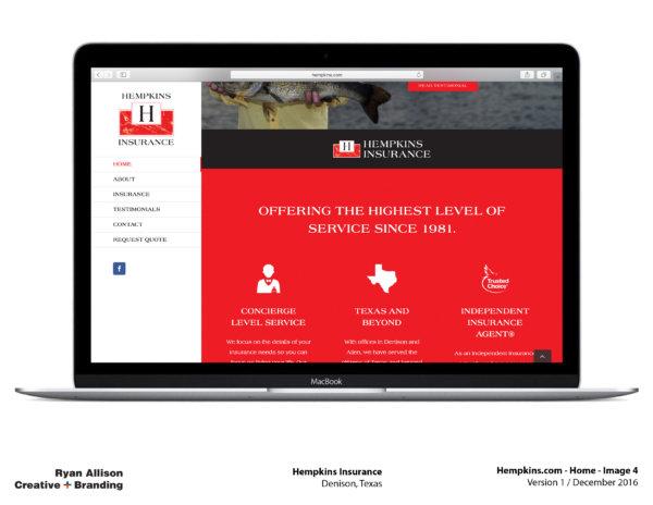 Hempkins Insurance Website Home 4 - Project - Ryan Allison Creative + Branding
