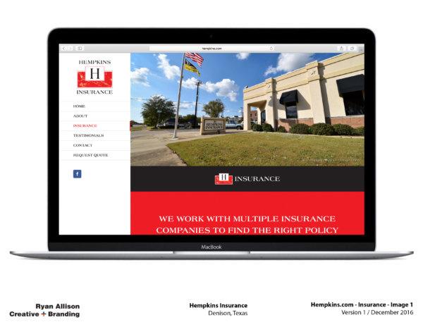 Hempkins Insurance Website Insurance 1 - Project - Ryan Allison Creative + Branding