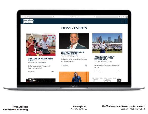 Love Style Inc Chef Tim Love Website News Events 1 - Project - Ryan Allison Creative + Branding