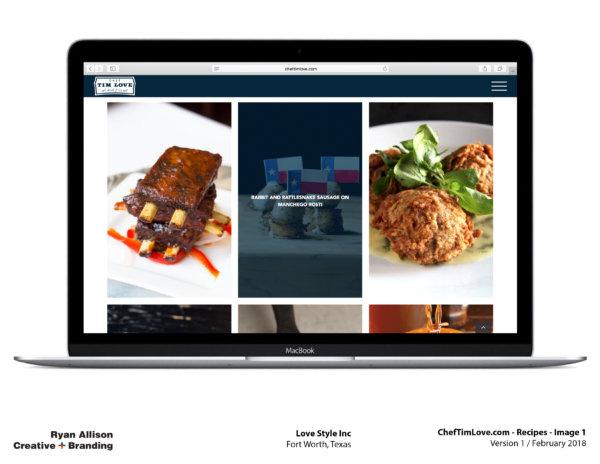 Love Style Inc Chef Tim Love Website Recipes 1 - Project - Ryan Allison Creative + Branding