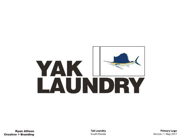 Yak Laundry Primary Logo - Logo - Ryan Allison Creative + Branding