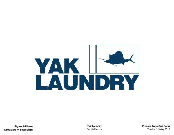 Yak Laundry Primary Logo One Color - Logo - Ryan Allison Creative + Branding