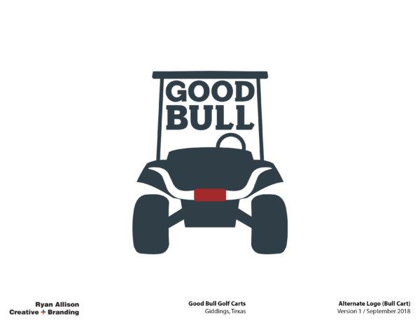 Good Bull Golf Carts Alternate Logo (Bull Cart) - Logo - Ryan Allison Creative + Branding