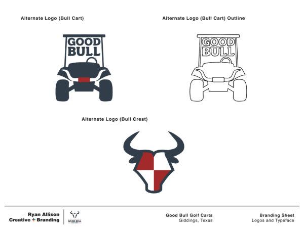 Good Bull Golf Carts - Branding Sheet Page 2 - Ryan Allison Creative + Branding