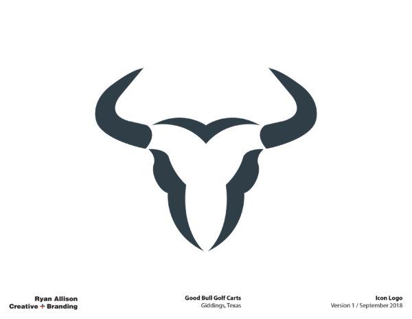 Good Bull Golf Carts Icon Logo - Logo - Ryan Allison Creative + Branding