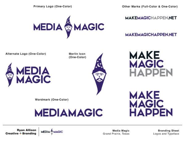 Media Magic - Branding Sheet Page 2 - Ryan Allison Creative + Branding