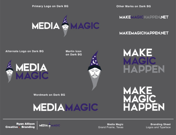 Media Magic - Branding Sheet Page 3 - Ryan Allison Creative + Branding