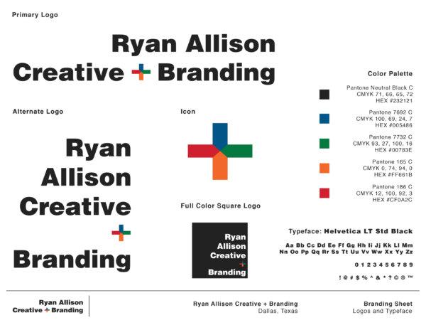 Ryan Allison Creative + Branding - Branding Sheet Page 1 - Ryan Allison Creative + Branding