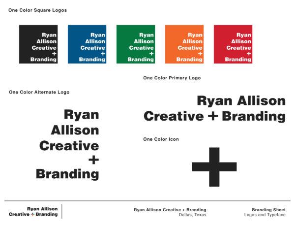 Ryan Allison Creative + Branding - Branding Sheet Page 2 - Ryan Allison Creative + Branding
